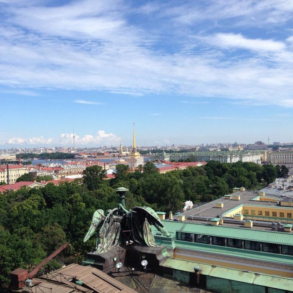 Looking around St Petersburg. View from St Isaac's cathedral cupola.