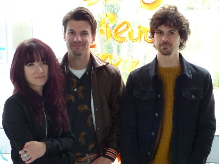 The Blind Suns au complet avant leur concert à Nantes du 27 avril dernier.