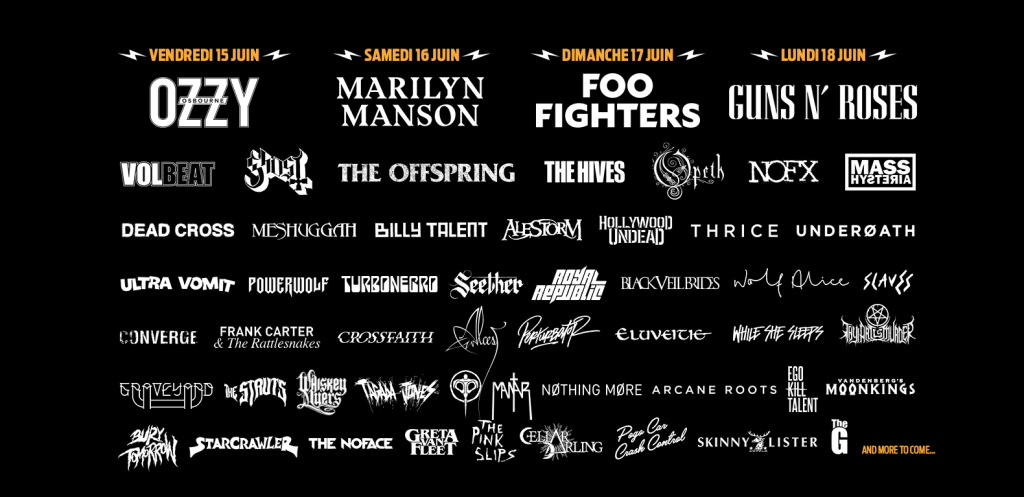 la programmation du Download 2018