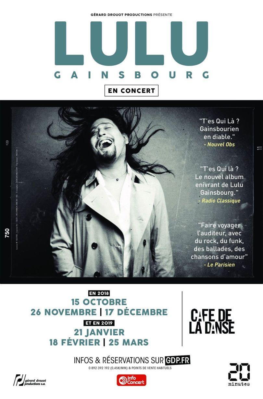Affiche de concert, Lulu Gainsbourg.