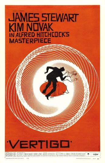 10-saul bass vertigo movie poster