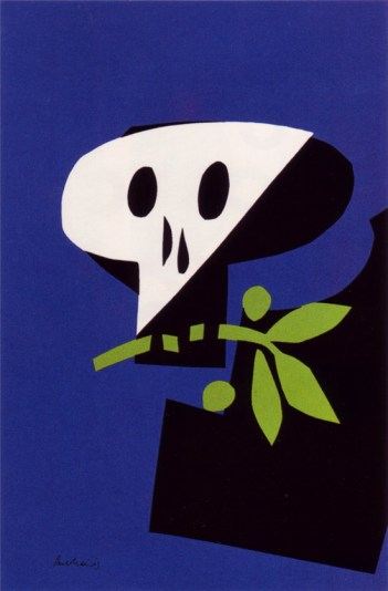 Paul Rand, poster against war, 1968