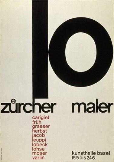 zürcher maler poster & grid layout (1956)