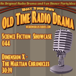Audio cover for Dimension X - The Martian Chronicles