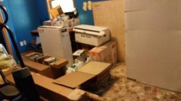 Building supplies in bedroom