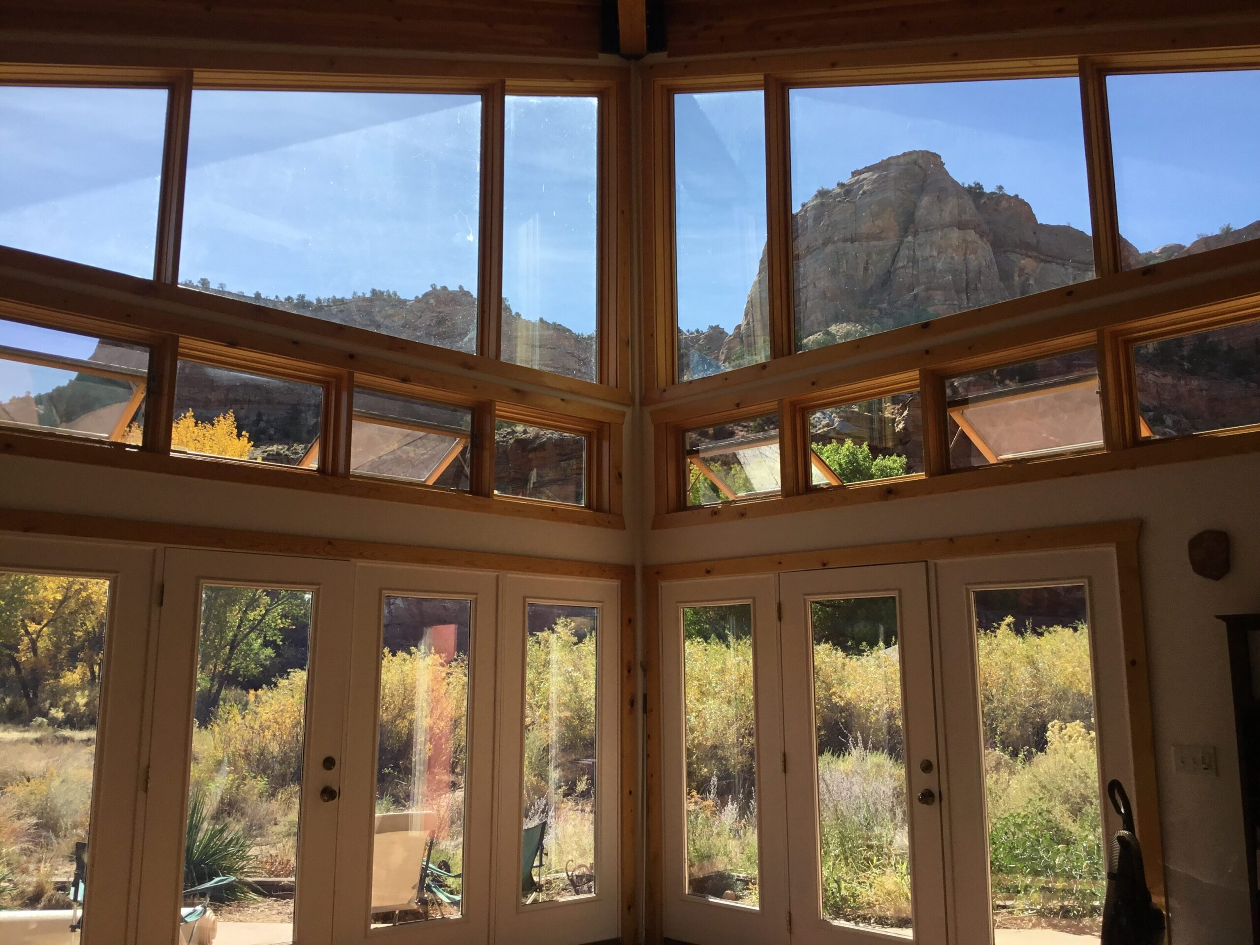 View from the living room, house is passive solar.