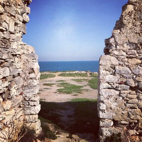 Ruinen an der Küste