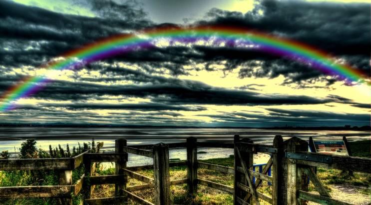 Manchmal fühlt man sich so frisch und munter wie gelb und grün. Manchmal so liebevoll wie rot. Manchmal wiederum, da fühlt man sich trüb wie schwarz und grau. Aber es ist doch die Mischung, die den Regenbogen macht! - Esragül Schönast