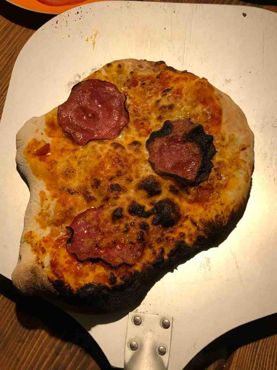 Erste Pizza - Röstaromen