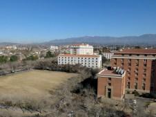 Blick auf die Anden vom Rathaus