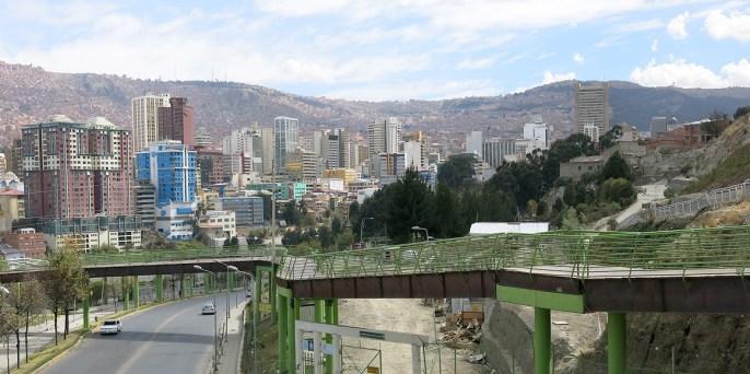 Der Steg vom Parque Urbano Central