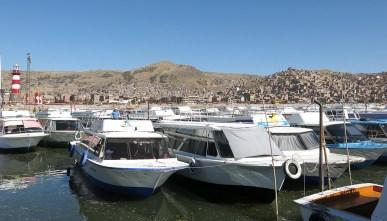 Der Bootsanleger in Puno