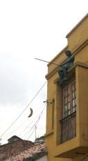 Überall in der Stadt sind wetterfeste Pappmaschee-Skulpturen verteilt – dies ist unser Favorit