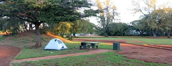 Unser erstes Nachtlager