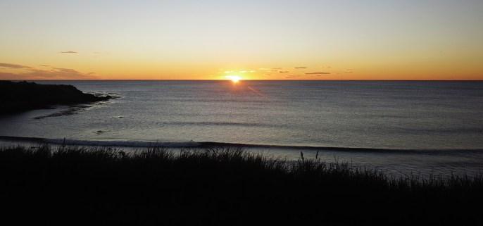 Sonnenaufgang aus unserem Camper