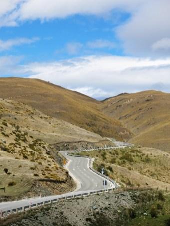 Über die Berge ging es Richtung Wanaka