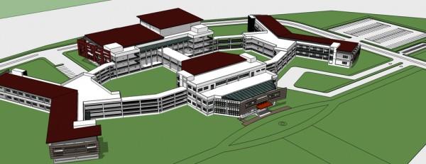 แบบร่างอาคารของโรงเรียน กำหนดแล้วเสร็จปีการศึกษา 2561