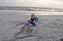 Cake. Beach. Happy Toddler.