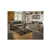 Simmons Upholstery Ventura Smoke Sofa & Loveseat