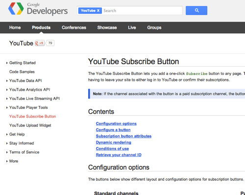 Tip: Add YouTube Subscribe badge to your site and blog posts (1/3)