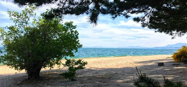 Omi-maiko beach at lake Biwa.