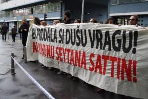 Prosvjeda akcija Inicijative Dobrodosli i CROSOL-a (2)