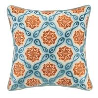 kate spain orange and blue bahir pillows   welcome2gainesvegas