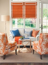 Orange and Blue Living Room | welcome2gainesvegas