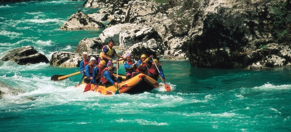 Рафтинг на реке Соча Словения