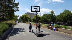 A game of basketball on the Grand Concourse? Why yes!
