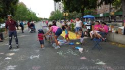 Families having fun at Boogie on the Boulevard this past Sunday, August 9th