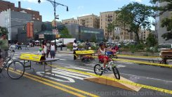 Kids enjoy the racing course this at Boogie on the Boulevard this past Sunday, August 9th