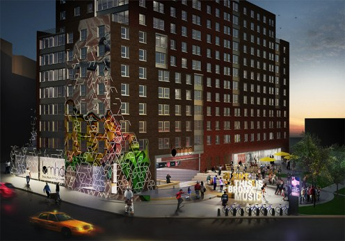 Bronx Commons rendering once complete will house a 15,000 square foot home of The Bronx Musical Heritage Center
