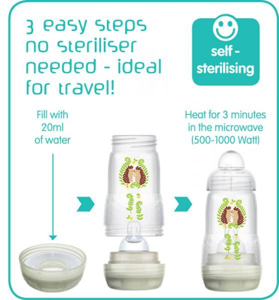 mam easy start anti colic bottle 260ml green
