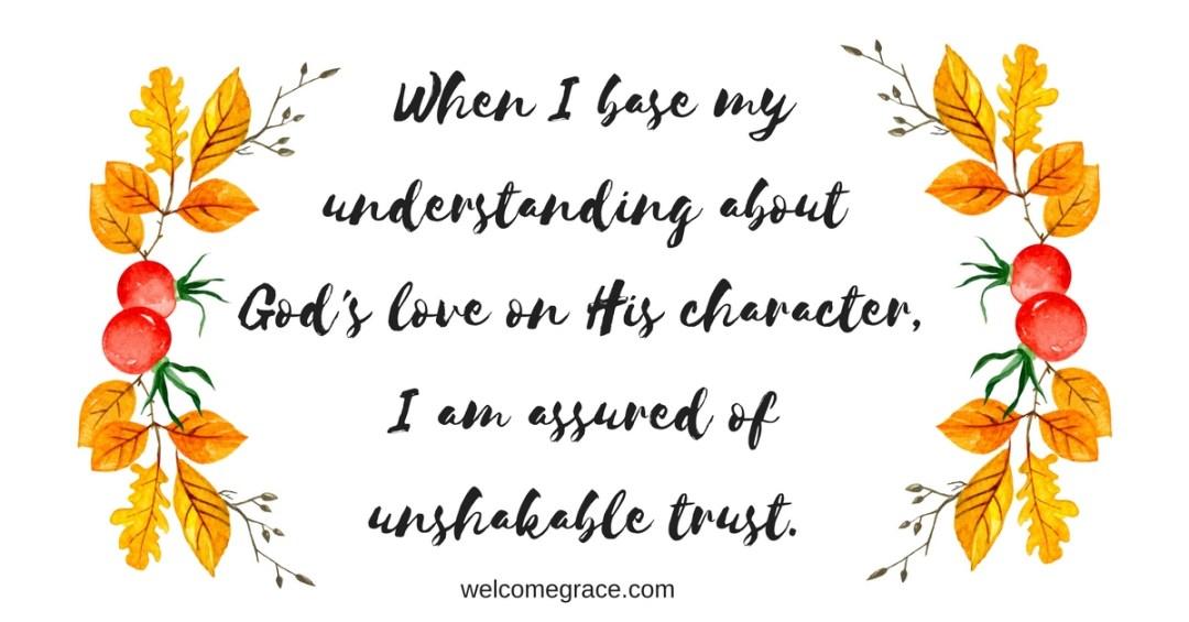unshakable trust