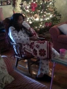 mom watching TV