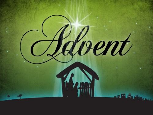 advent nativity display