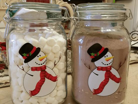 snowman-jars