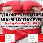 OKF #2 Oct 22-2017 tournament information