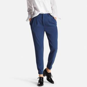 Uniqlo 2017 drape collection jogger pants. These pants have 2 pleats and are blue.