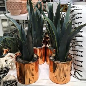 target faux fake plant arrangement in a copper pot
