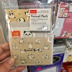 Daiso mini stationery set with pandas.