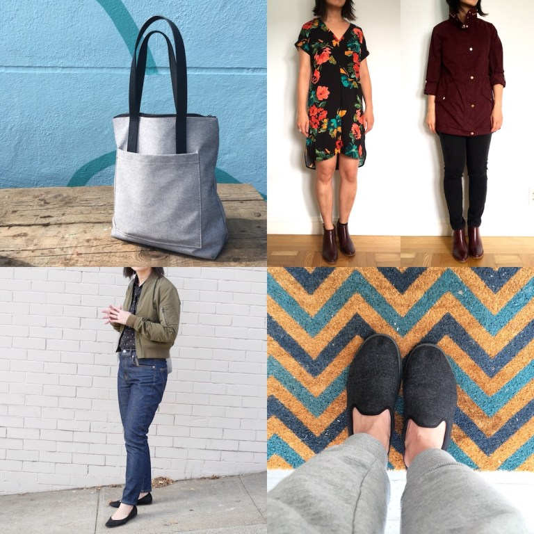 Top Welcome Objects posts of 2017, featuring a totebag, some outfits, some shoes.