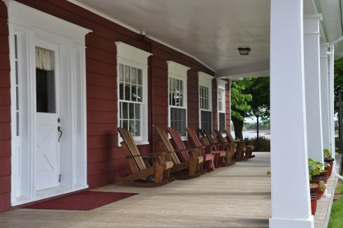 Porch at Shaw's Hotel