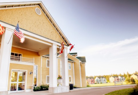 Here is a photo of the entrance to Rodd Crowbush Golf & Beach Resort