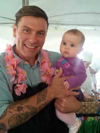 Chef Chuck Hughes with Arabella