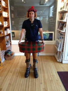 Terry at the Prince Edward Island Preserve Company, New Glasgow, PEI