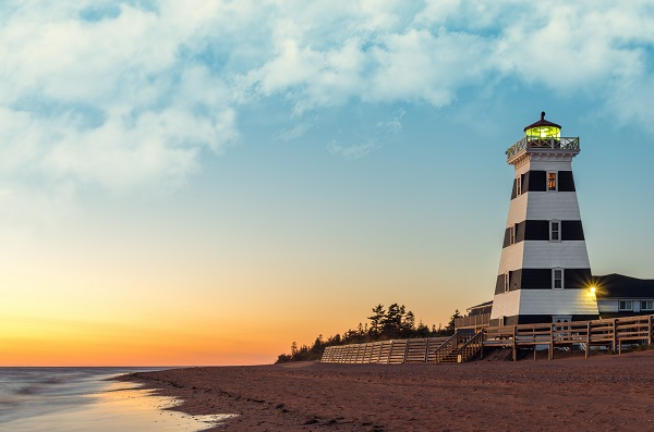 West Point Lighthouse at Sunset (Prince Edward Island, Canada)