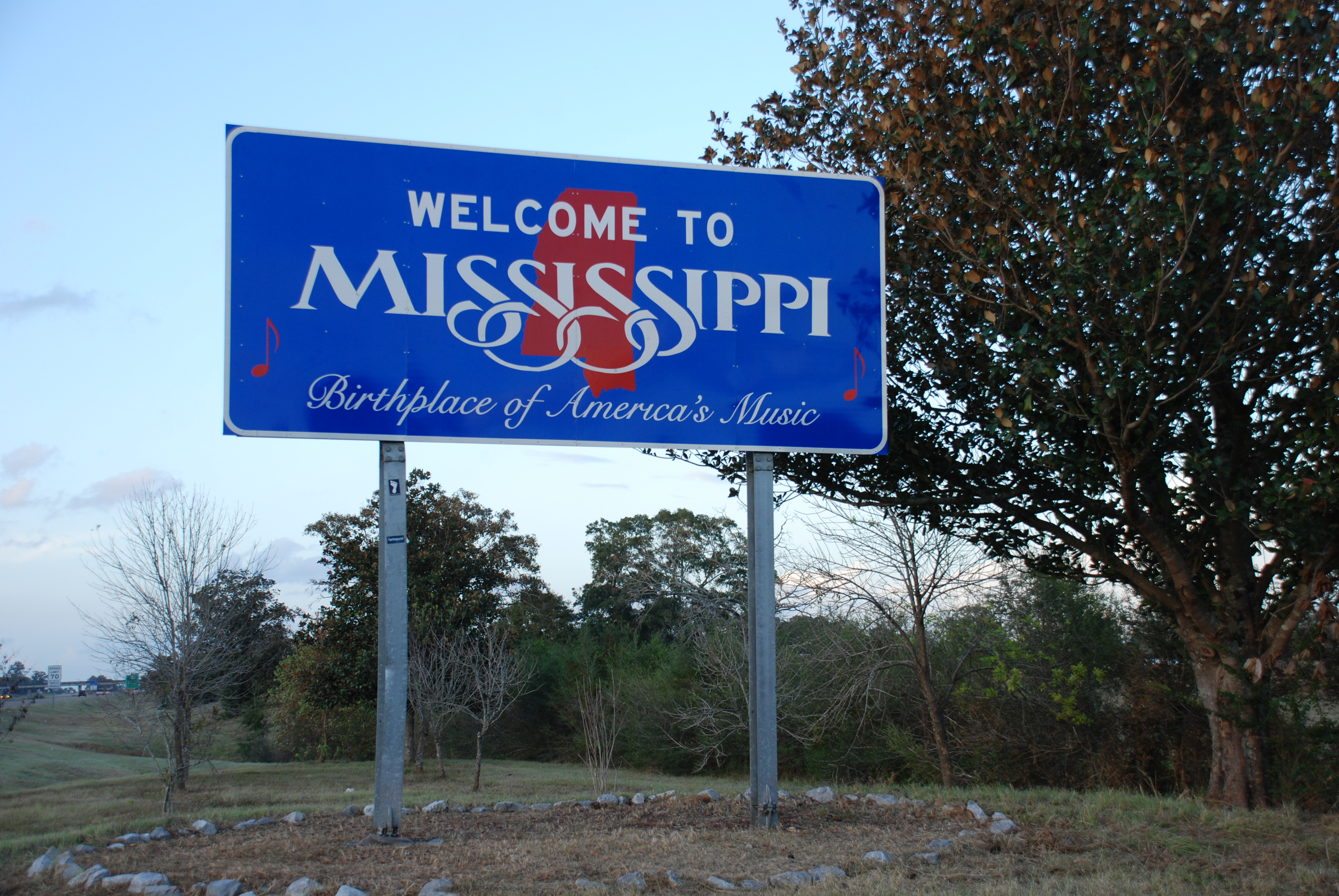Mississippi Welcome Sign  Welcome Sign Project