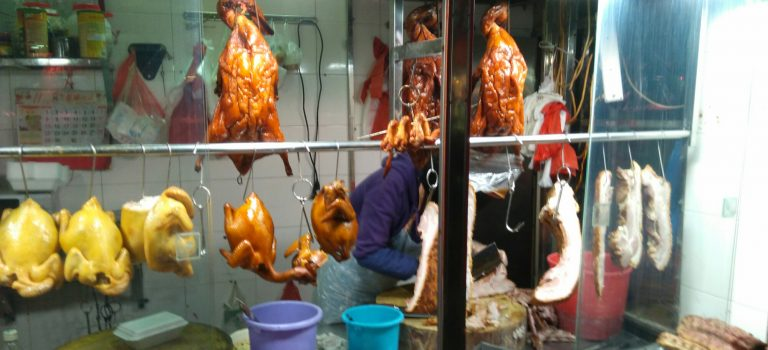 A Cantonese Roast Meat Stall